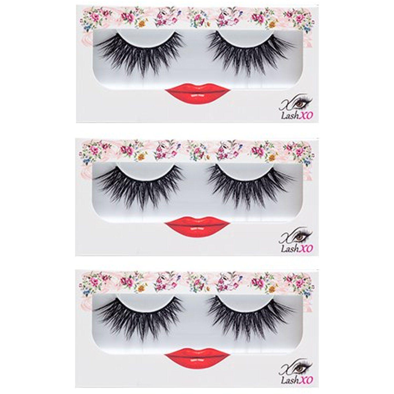 Lashxo Lashes Lucky Lola 3pack Premium Quality False Eyelashes