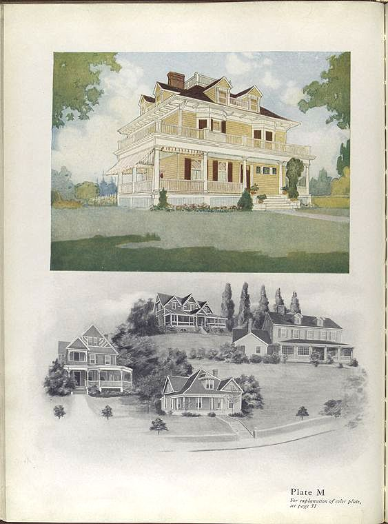 Early 1900 Home Design: 1913 National Lead Paint Catalog.