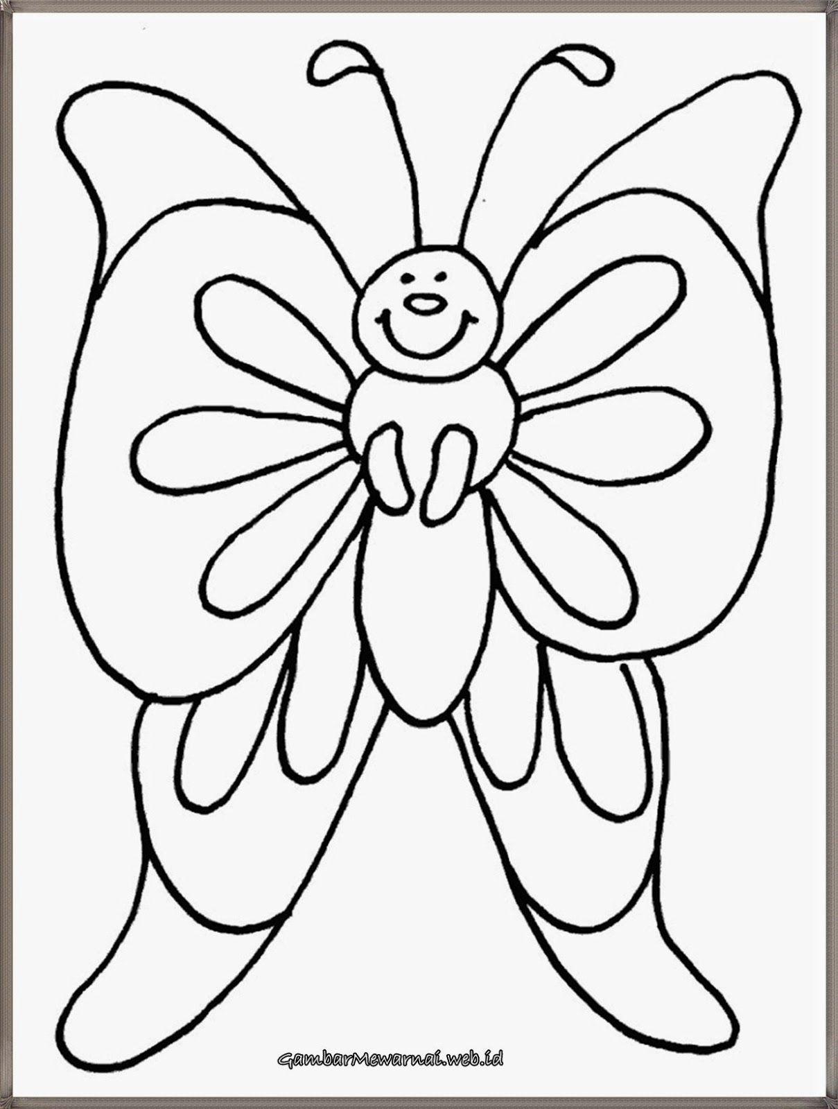 gambar mewarnai binatang kupu kupu kupu kupu pinterest