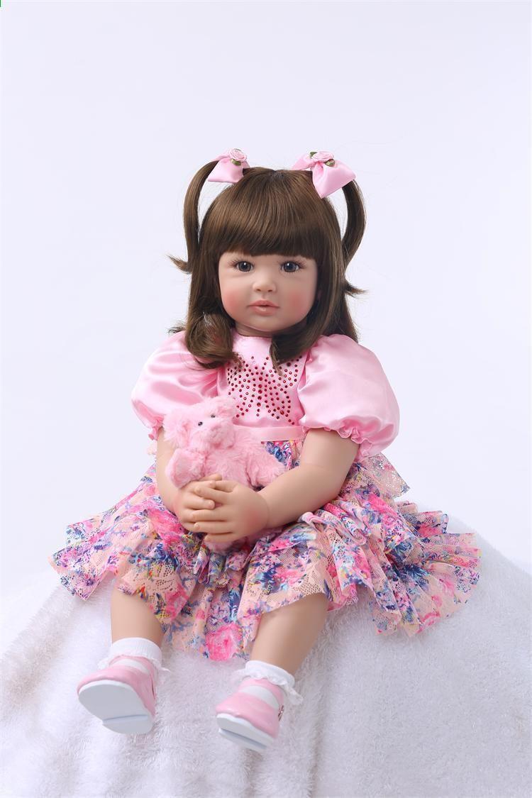 91de110fc सिलिकॉन रीबर्न बेबी गुड़िया खिलौने 55 सेमी राजकुमारी टोडलर गुड़िया लड़कियां  Brinquedos ...