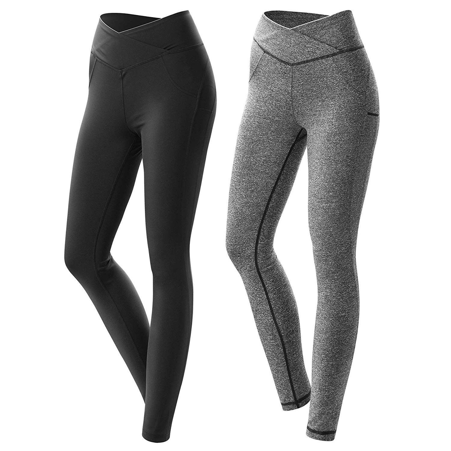 Workout Leggings Compression Streamlined Fitness - Grey T185 - CG18KC4YE4R - Sports & Fitness Clothi...