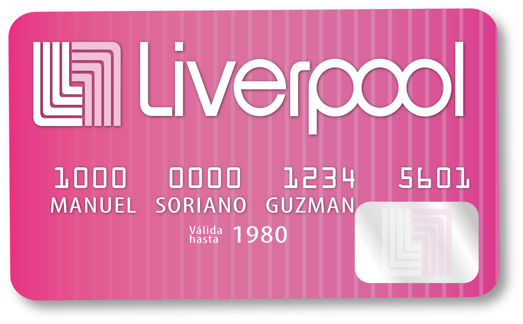 This Is A Credit Card Of A Famous Shop Called Liverpool, I