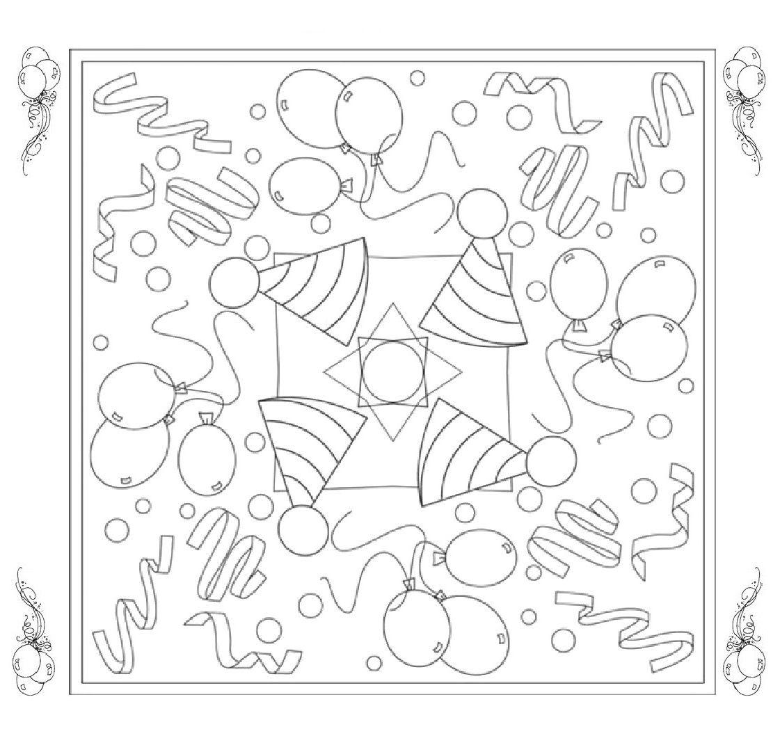 mandala feest kleurplaten carnaval thema knutselen