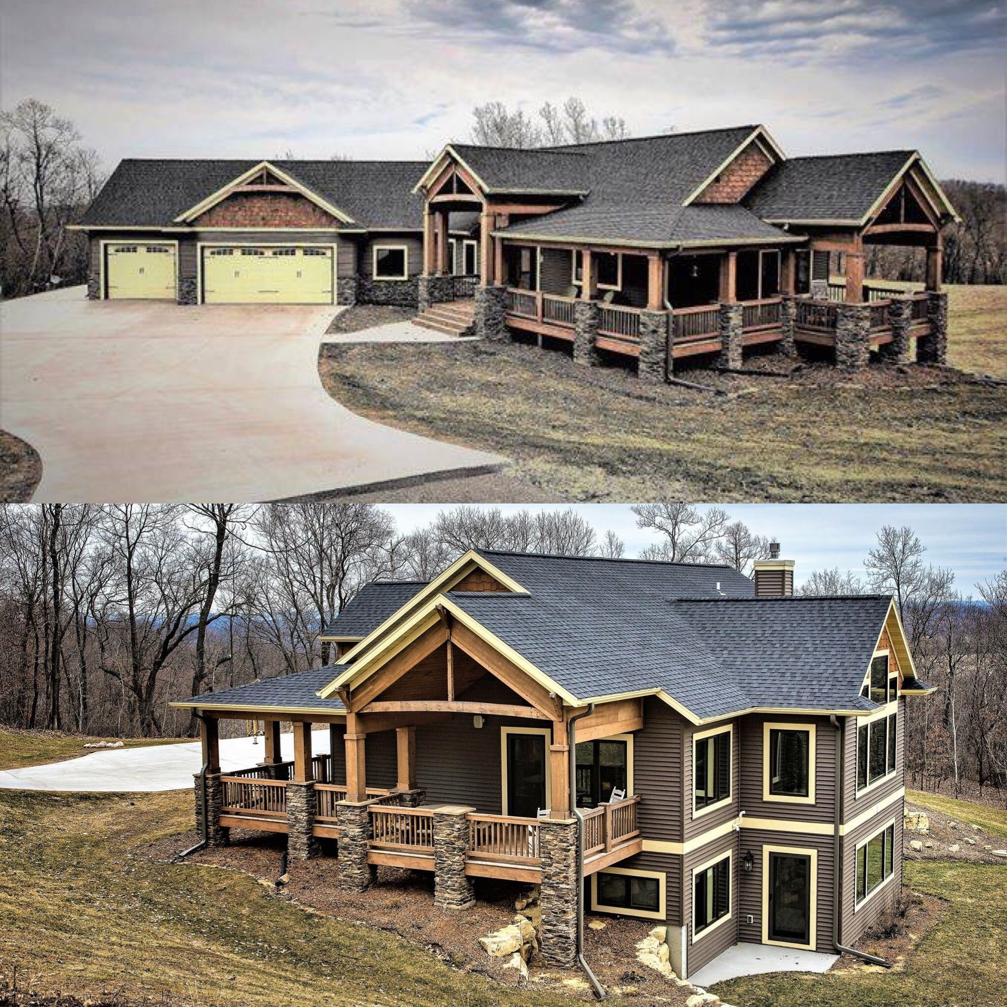 love that both floors have access to lots of light cabin homes house also best log plans design ideas exterior  rh pinterest