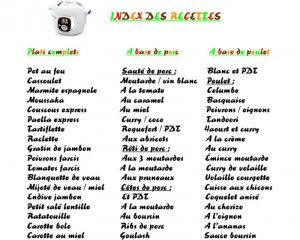 Recettes Cookeo Pdf Recette Cookeo