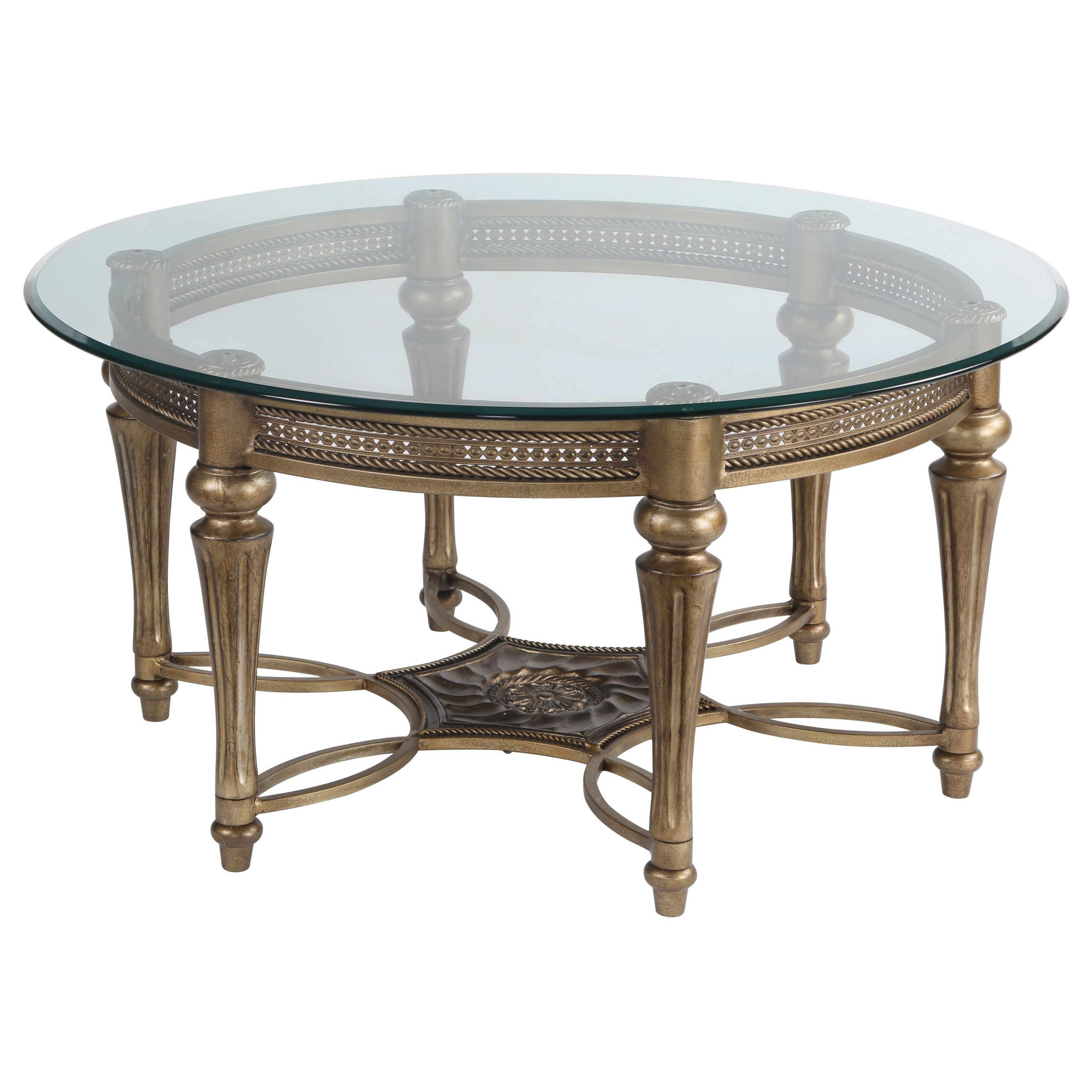 Galloway round cocktail table with glass top overstock galloway round cocktail table with glass top overstock shopping the best deals geotapseo Image collections