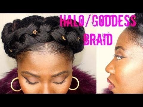 Halo Braid On Natural Hair Easy Tutorial Crown Braid Youtube