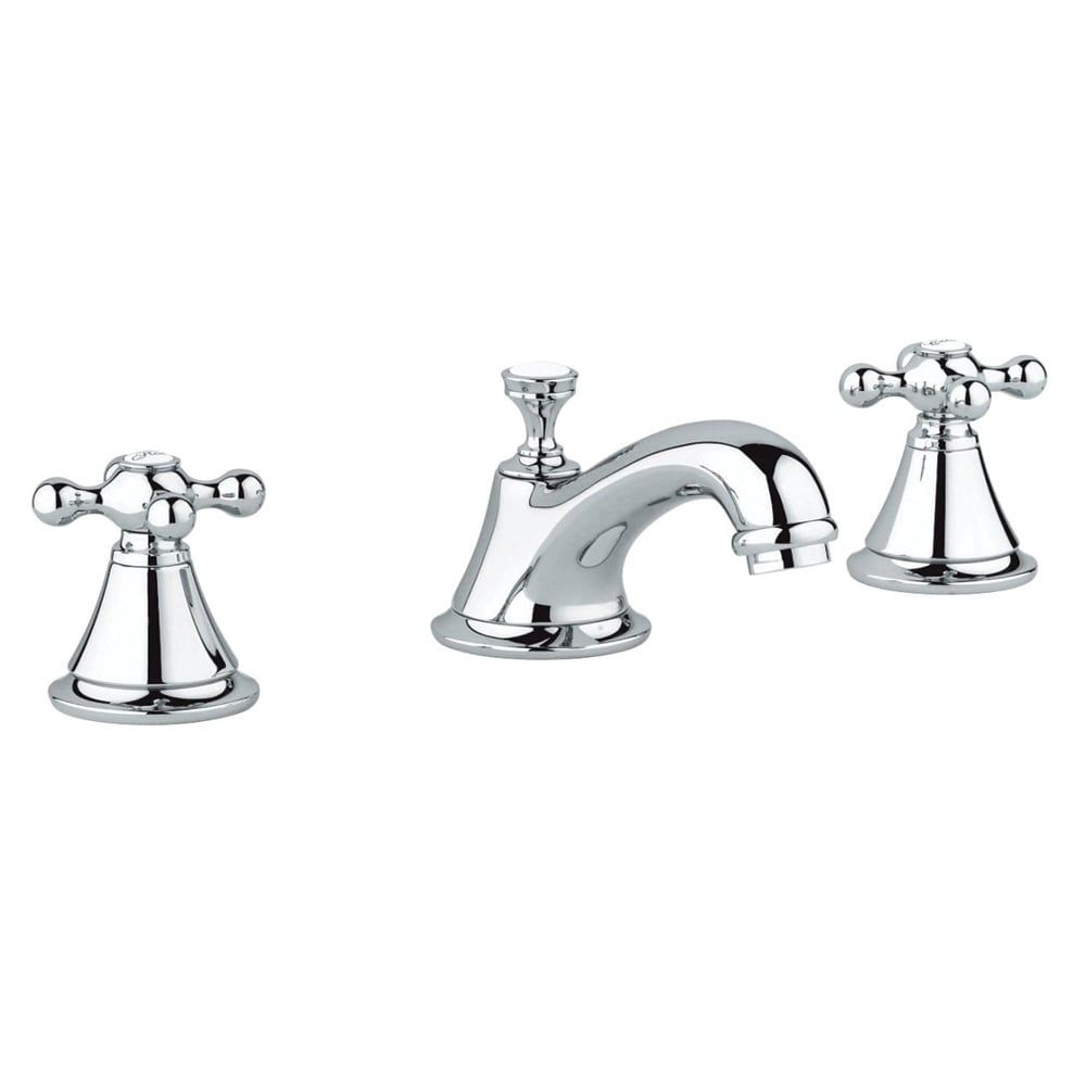 Grohe seabury widespread bathroom sink faucet kit with