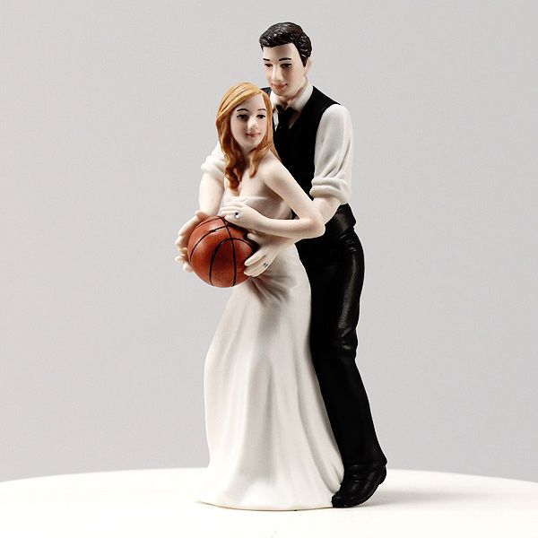 cute wedding topper for all the basketball fans out there getting married