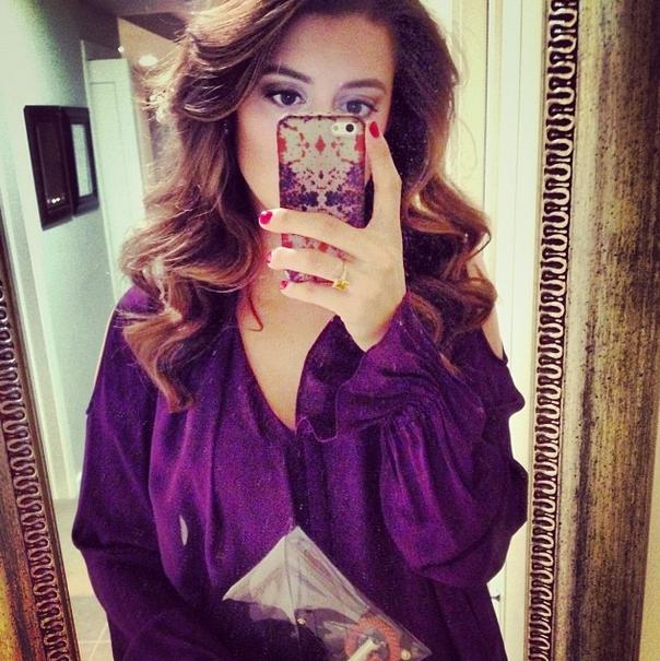 Purple Rachel Zoe top.