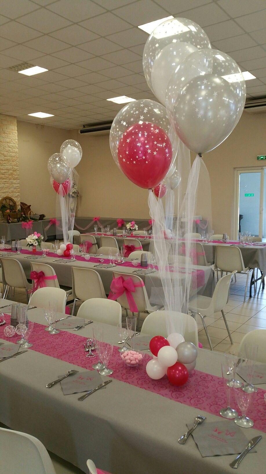 Centre De Table Bapteme Decoration Ballon Centre De Table