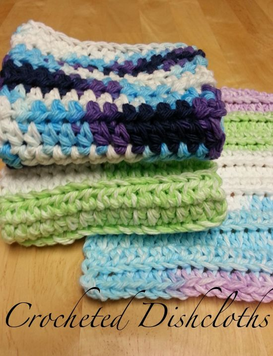 2 Simple Crochet Dishcloth Patterns   Best of Enchanted Savings ...