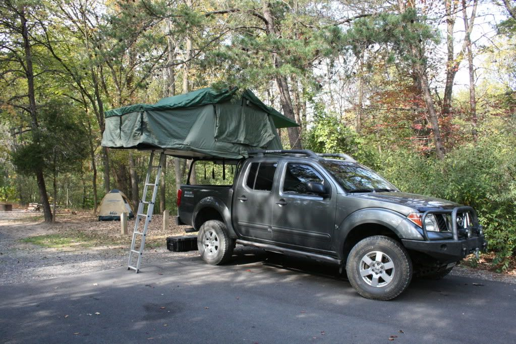 Lifted Frontier with cool bumper and bed rack with tent. & Lifted Frontier with cool bumper and bed rack with tent. | New ...
