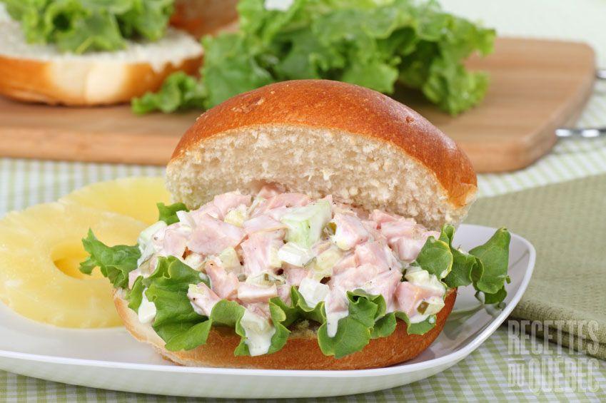 Garniture pour sandwich au jambon et miel boite lunch for Idee plat pour recevoir des amis