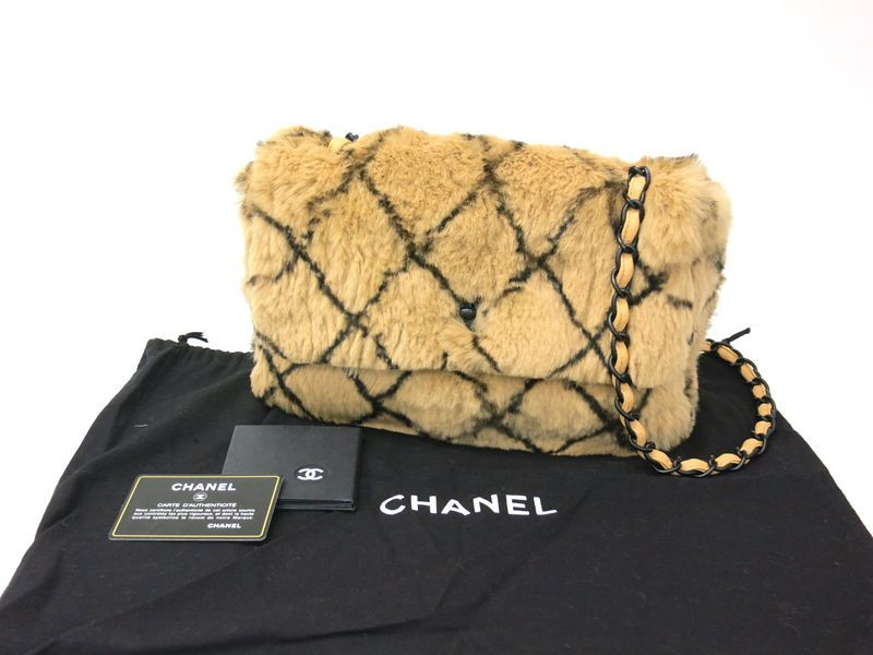 CHANEL Chain Shoulder Bag Lapin beige(BF044519)