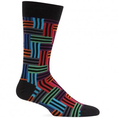 Who says he can't wear socks with flare under a full suit?  These Men's Stripe Maze Socks are the perfect gift for him.