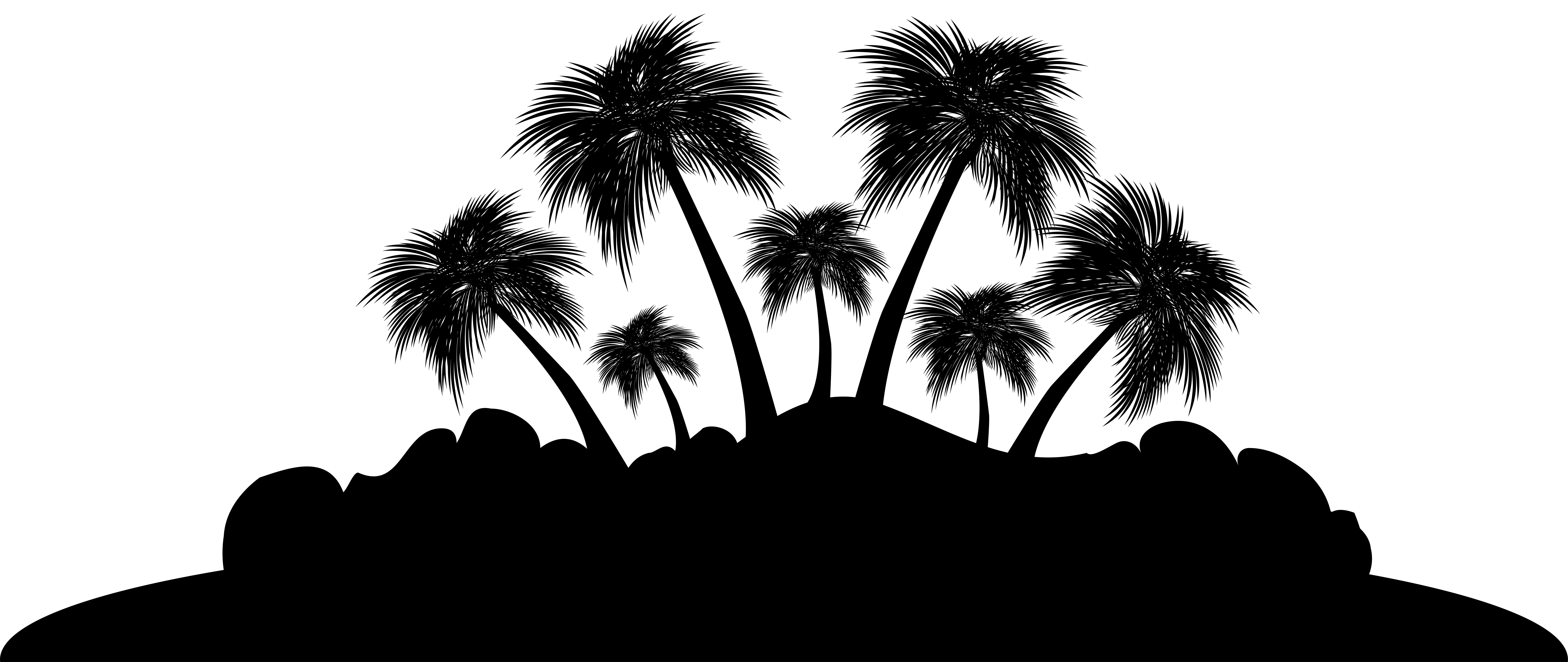 Island silhouette clip art clipart collection Cliparts