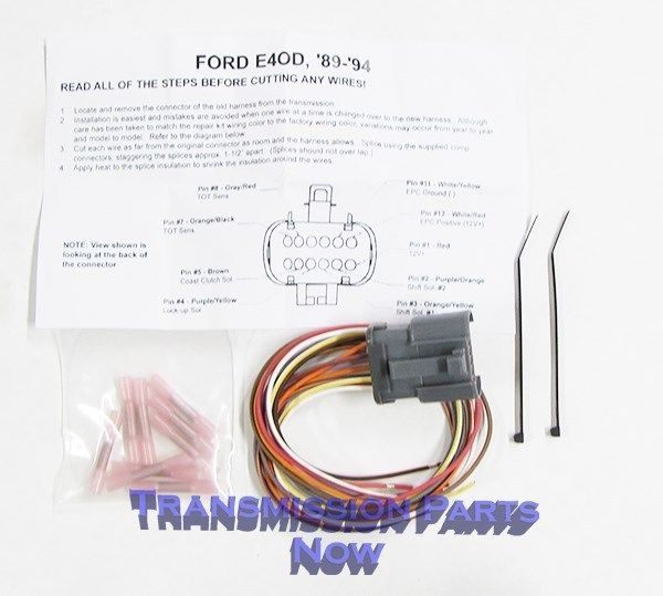Ford Transmission External Connector Repair End E4od 4r100 1989 1994 D36445ek Ford Transmissions Transmission Ford