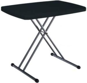 Lifetime Personal Tables 280056 Black Folding Table 20 X 30 Top Folding Table Lifetime Tables Table