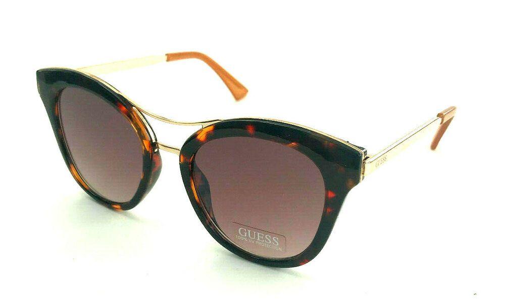 GUESS GF0304 01C Ladies Black//Gold Frame Grey Lens Designer Sunglasses NEW