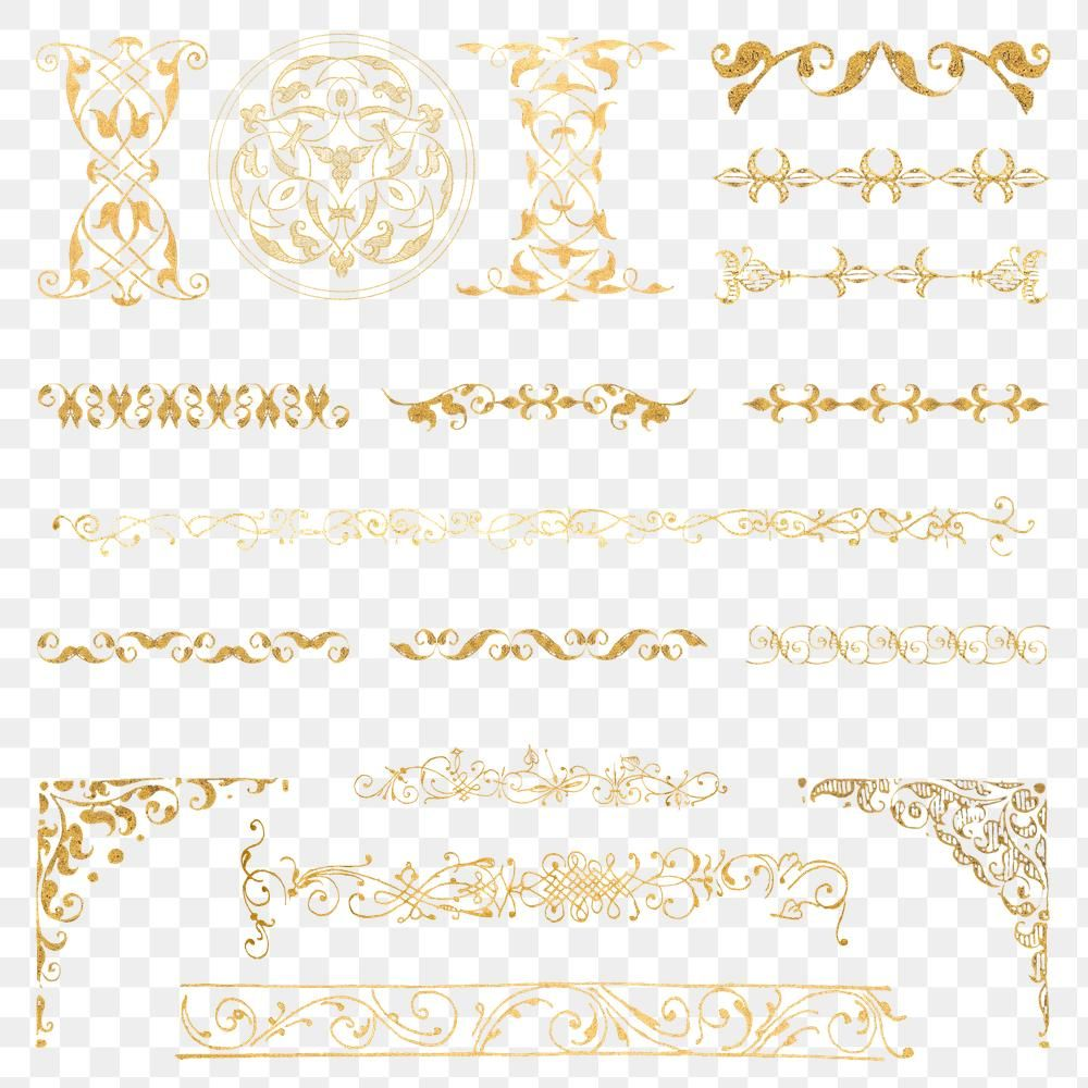 Vintage Gold Divider Png Victorian Element Remix From The Model Book Of Calligraphy Joris Hoefnagel And Georg Bocska Vintage Gold Free Illustrations Victorian