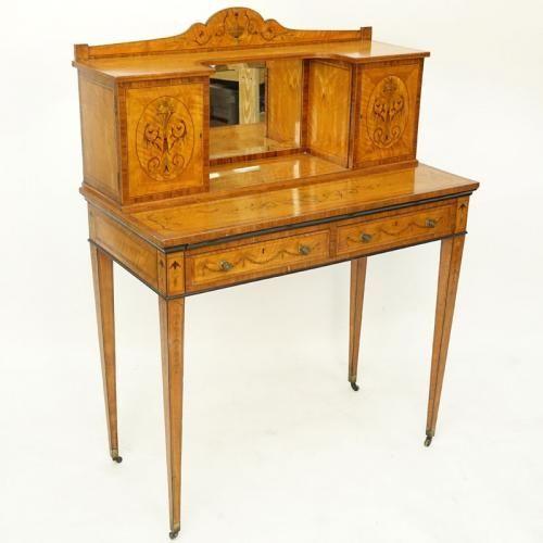 Antique Edwardian Adam Style Satinwood Inlay Ladies ...