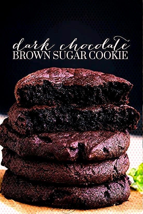 Dark Chocolate Brown Sugar Cookies - -