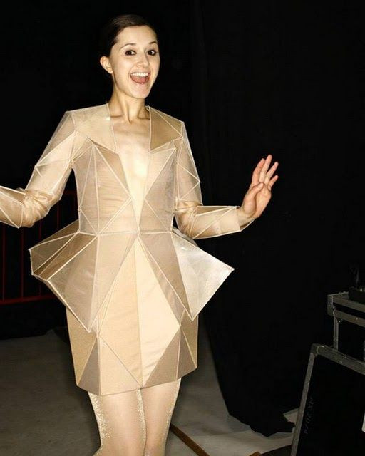 Geometric Fashion - innovative dress design with faceted 3D structure - fashion architecture; wearable art; sculptural fashion // Irina Shaposhnikova