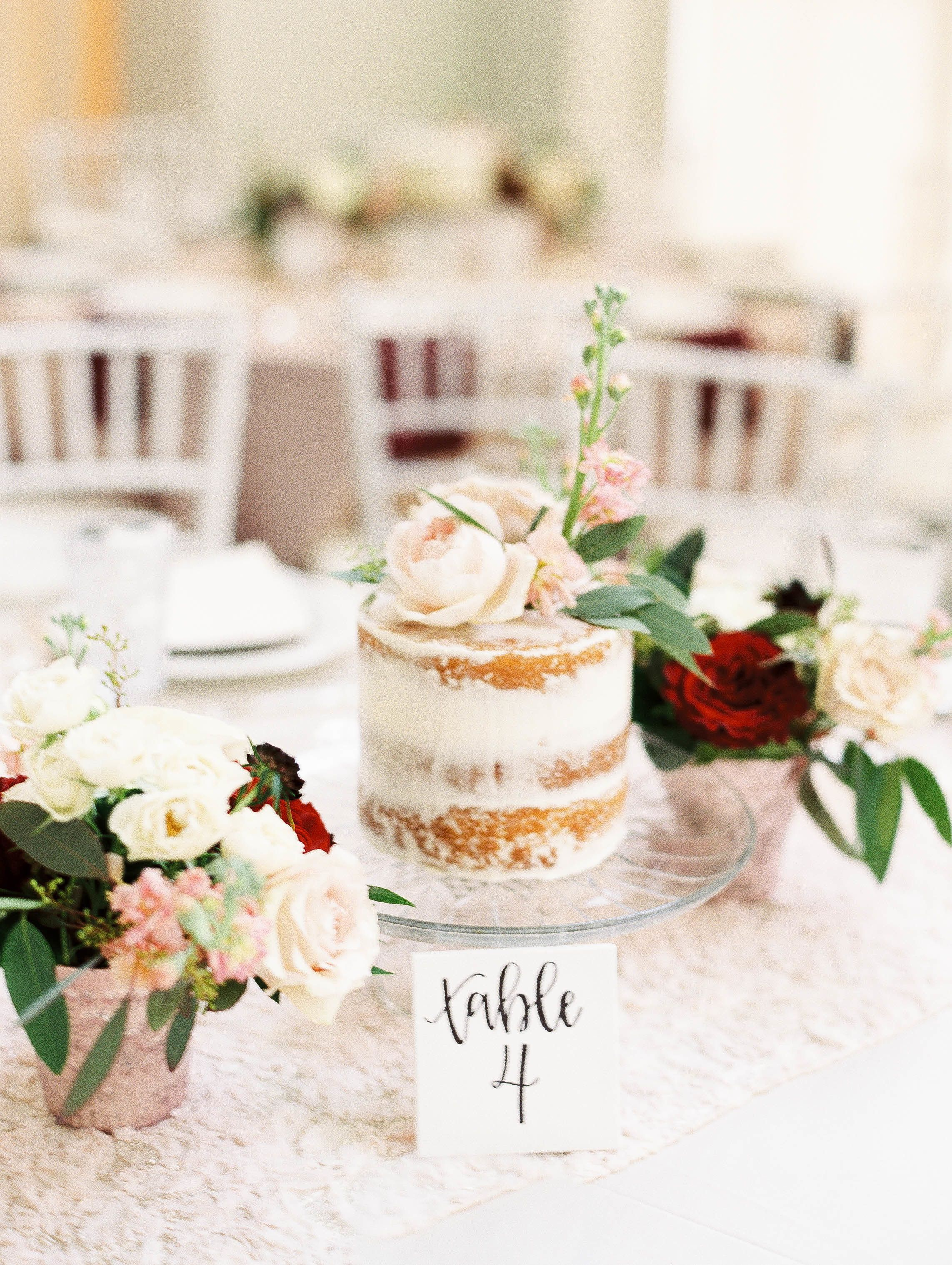 Beyond Blooms: This Couple Used Cakes As Their Centerpieces ...