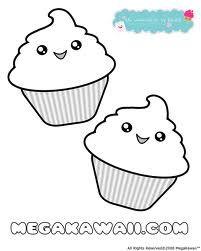 kawaii coloring sheets  cupcake coloring pages free printable coloring pages coloring pages