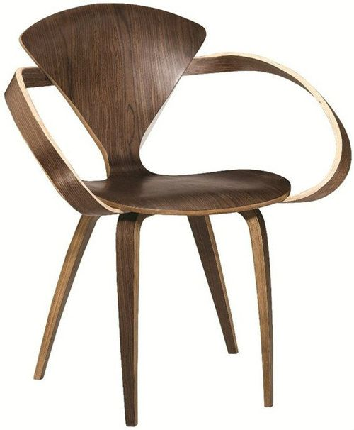 A Classic Mid Century Inspired Design, The Cherner Armchair Replica Offers  The Popular Sculptural