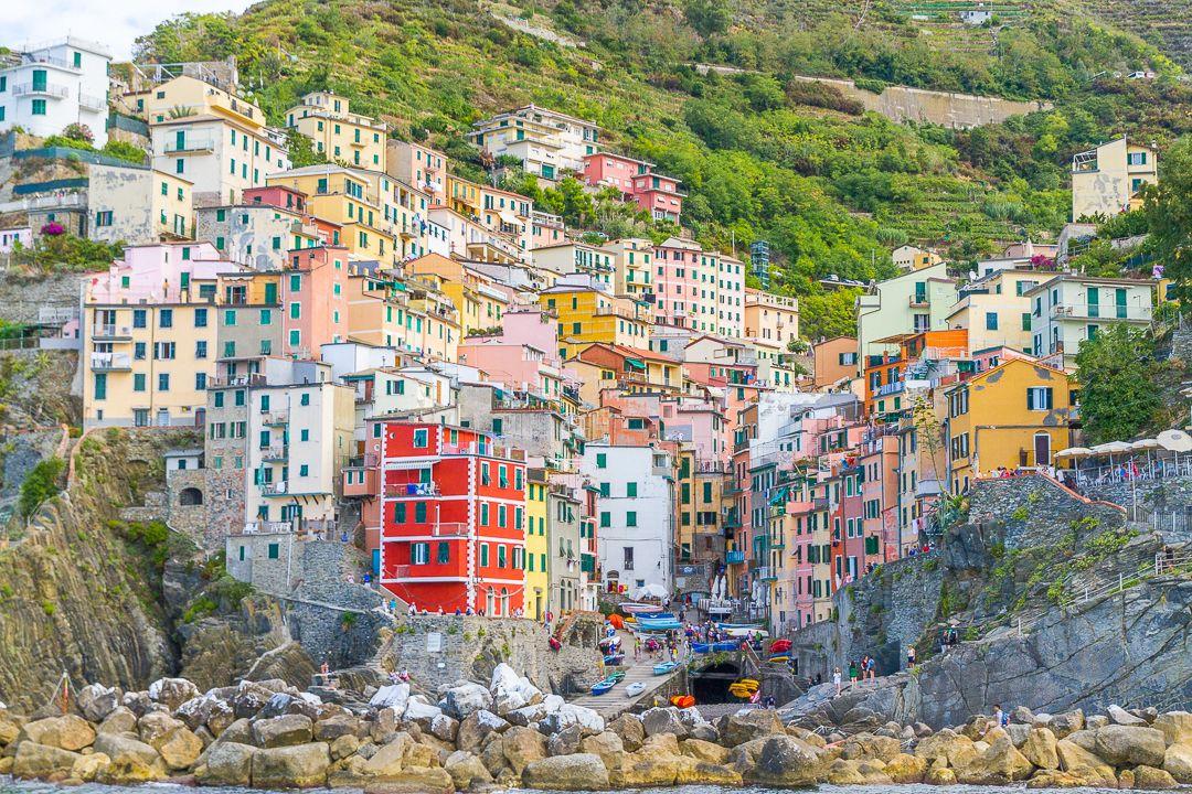 "Cinque Terre Riomaggiore - Start the CinqueTerre hike or take a ""tourist"" ferry along the coast to the villages."