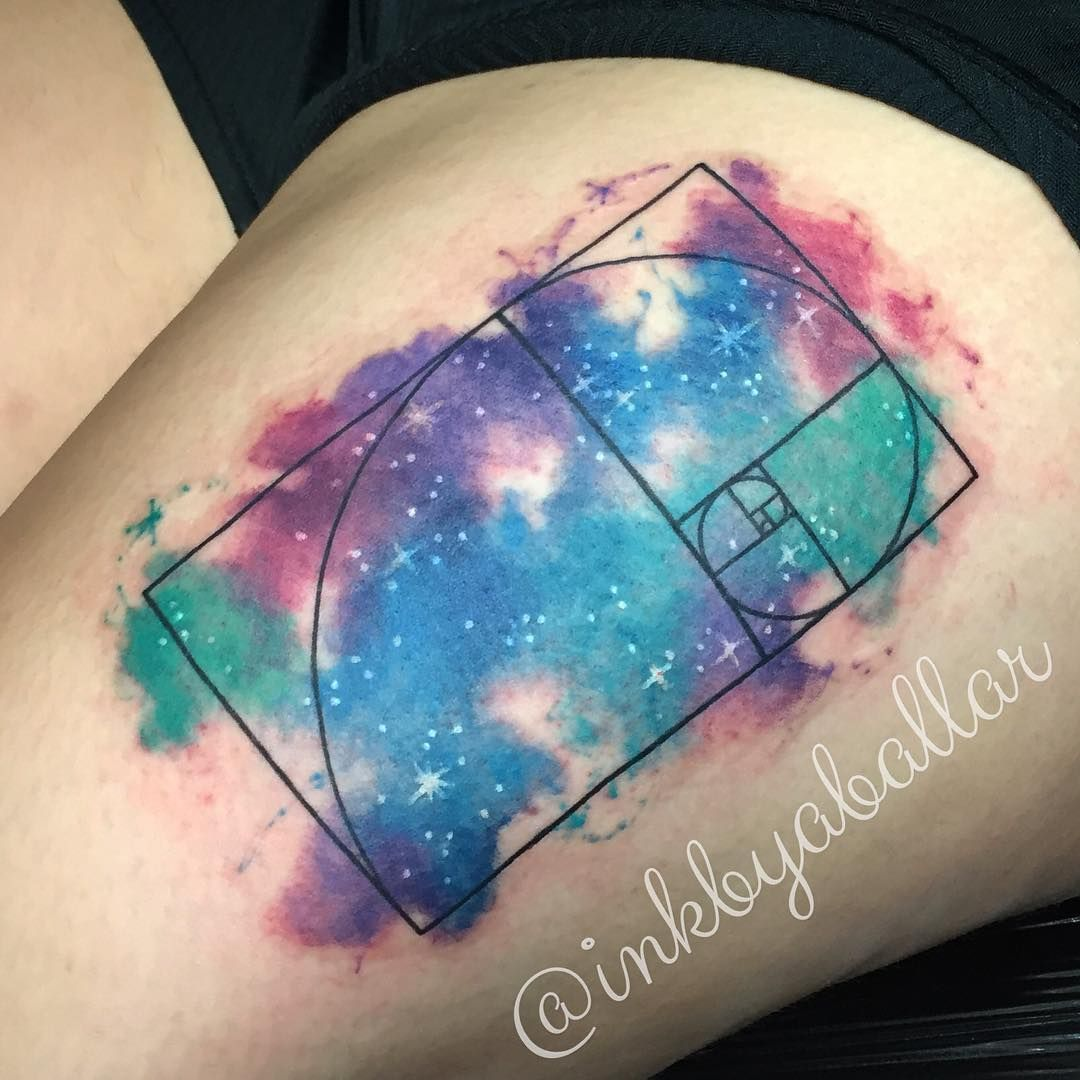 Green Galaxy Water Color Tattoo Google Search Inspirational