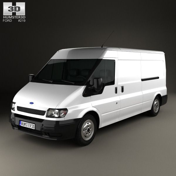 3d Model Of Ford Transit Panel Van 2000