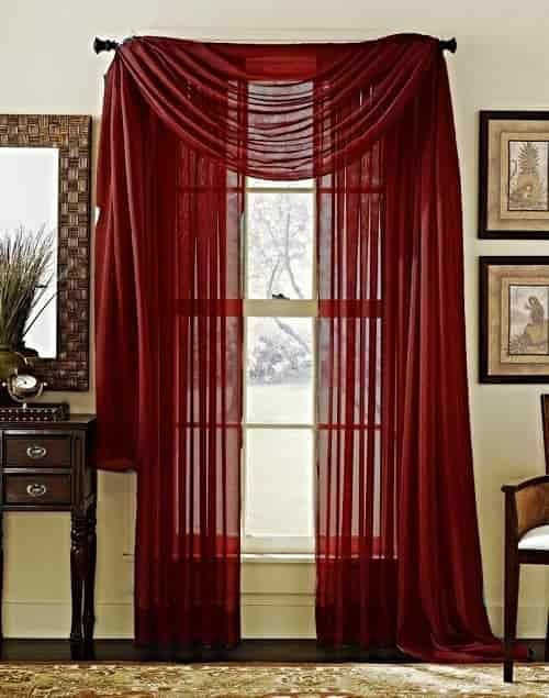 15 Impressive Burgundy Curtains For Living Room To Buy Red Sheer Curtains Unique Curtains Curtains Living Room #scarf #valances #for #living #room