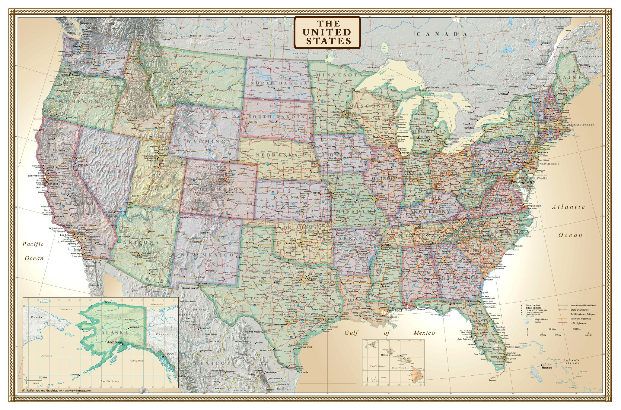 large united states wall map rolled usa map not folded usa map is printed on poster paper