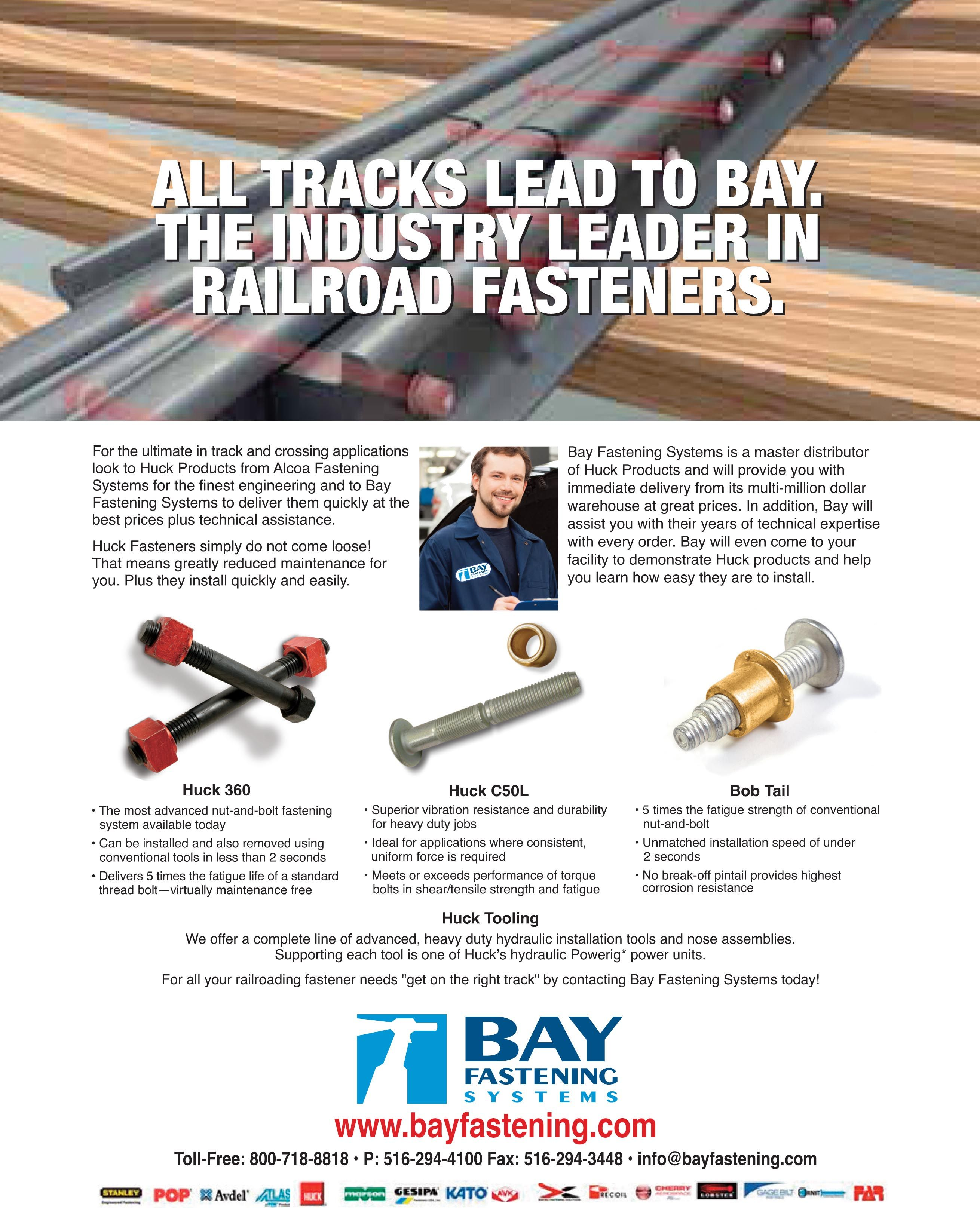 All Tracks Lead To Bay Fastening Systems The Industry Leader In Railroad Fasteners Www Bayfastening Com Fasteners Tools Systems Engineering