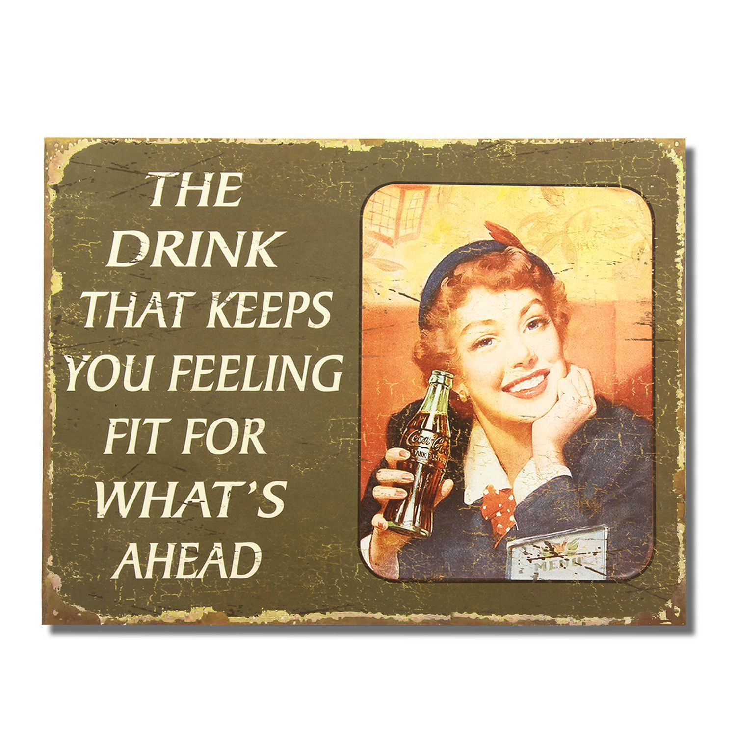 """Decorative Signs For The Home Unique Decorative Wood Wall Hanging Sign Plaque """"the Drink That Keeps You Decorating Design"""
