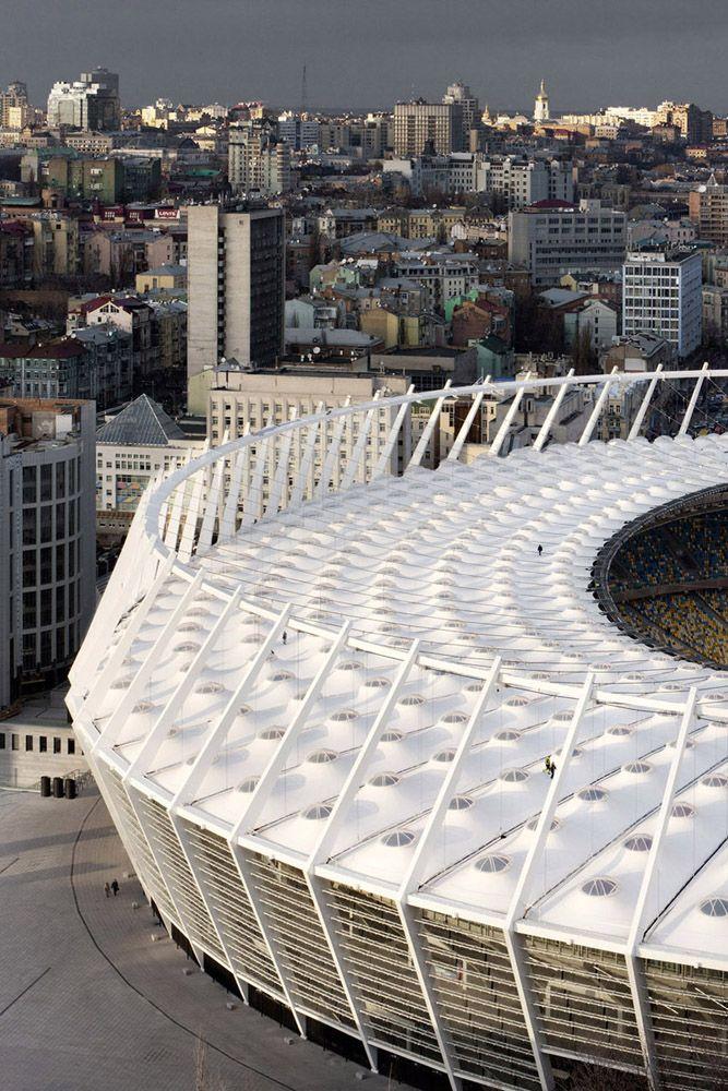 Kiev Olympic Stadium Gmp Architekten Stadium Design Stadium Architecture Stadium