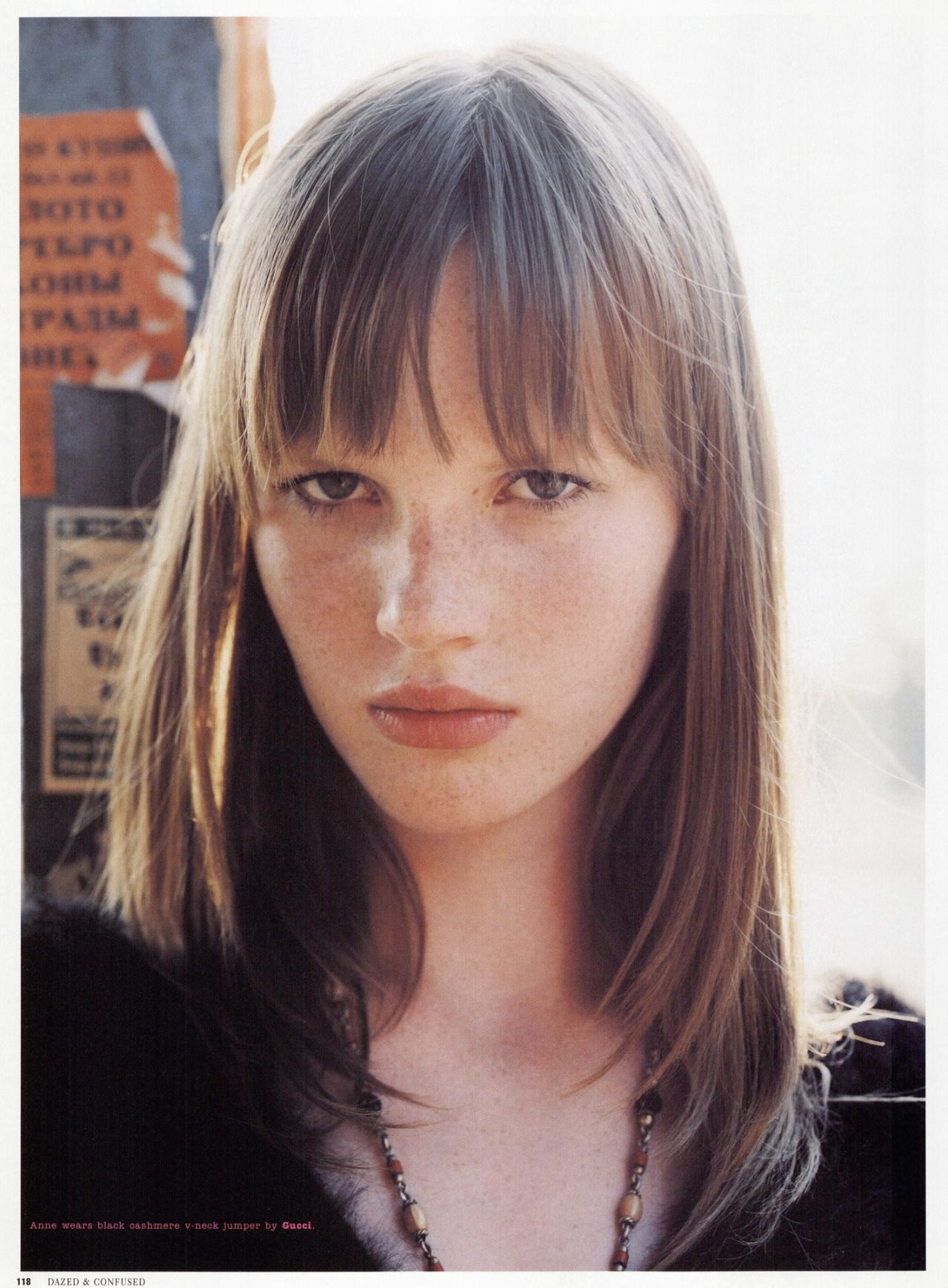"Dazed & Confused January 2002 ""Anne V "" Anne Vyalitsyna by Laurie"