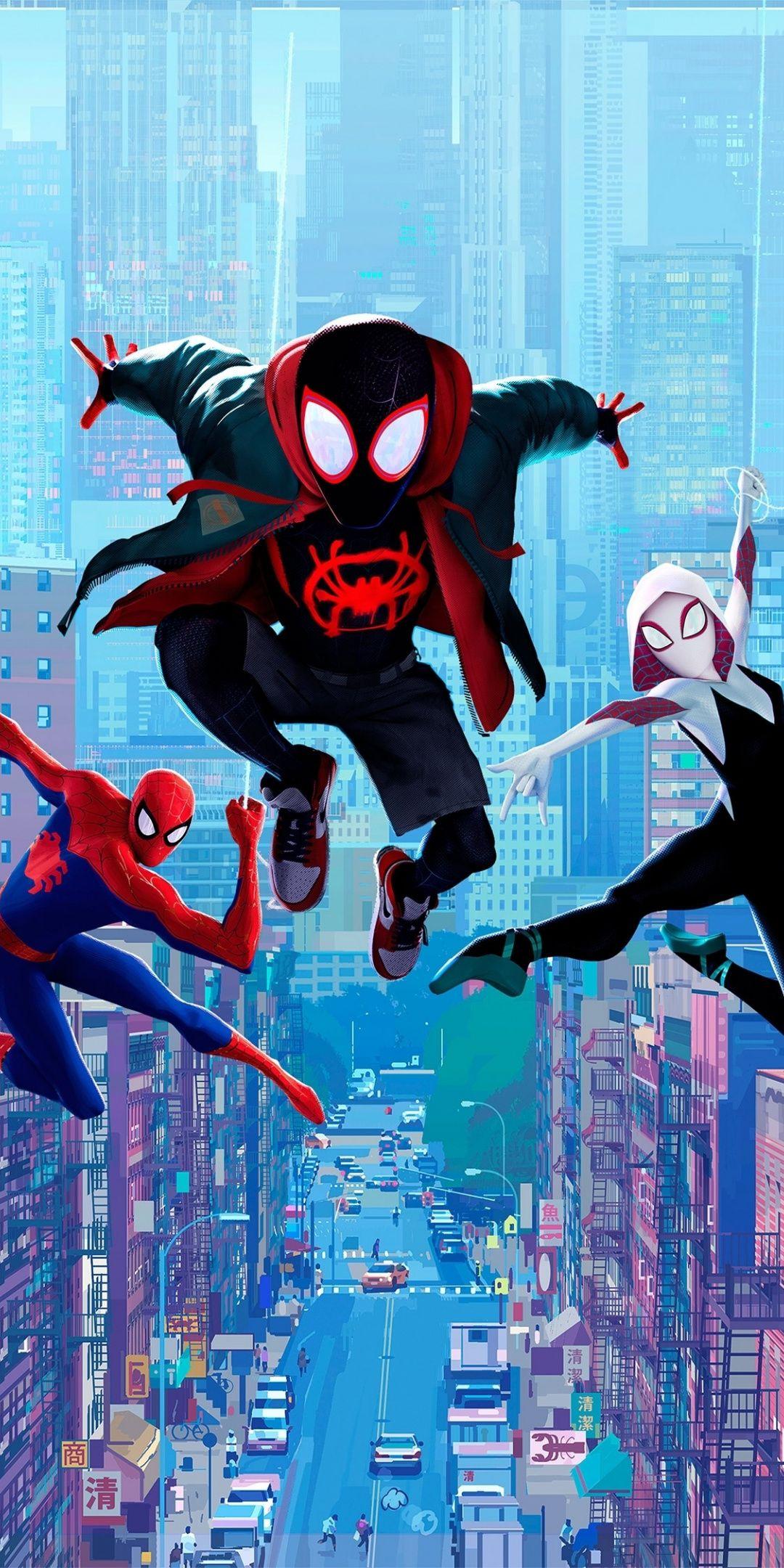 Movie Fan Art Spider Man Into The Spider Verse 1080x2160