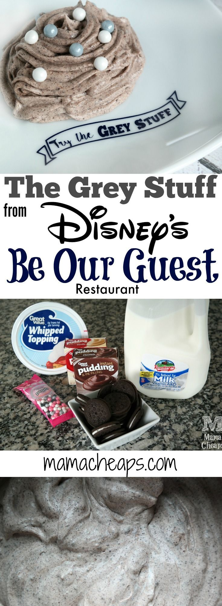 """How to Make """"The Grey Stuff"""" from Disney's Be Our Guest Restaurant Find more Disney fun on MamaCheaps.com!"""