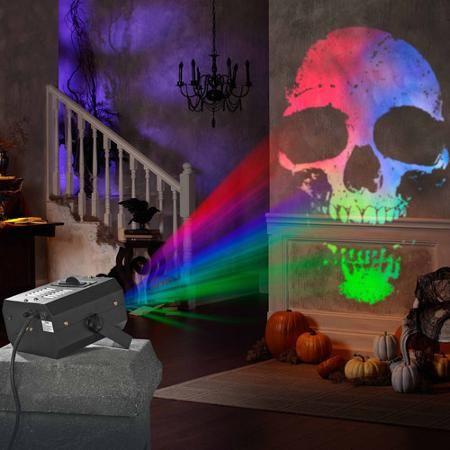 Indoor Lightshow Specter Projector Fire and Ice Halloween Decoration - halloween decorations at walmart