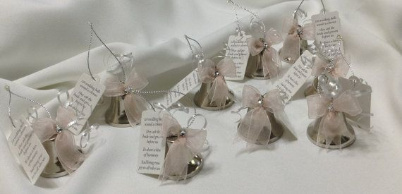 Wedding Bell Favors Kissing Bells Wedding Shower Favors Silver