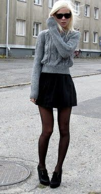 Talented black miniskirt e black pantyhose day, purpose