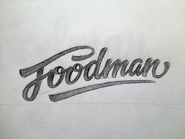 Hand-Lettering, Foodman on Behance