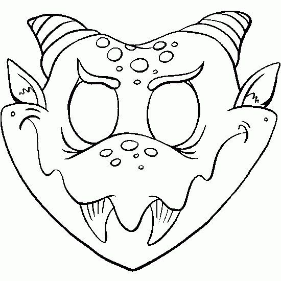 coloriage de: masque,halloween,colorier,decouper,gratuit
