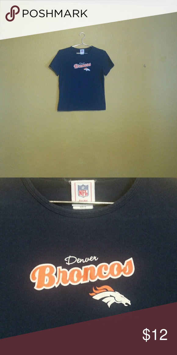 887cf894c8f NFL graphic Tee Denver Broncos NFL graphic Tee. Women's medium. Blue , white  and orange with a little sparkle on the lettering. Fitted style.