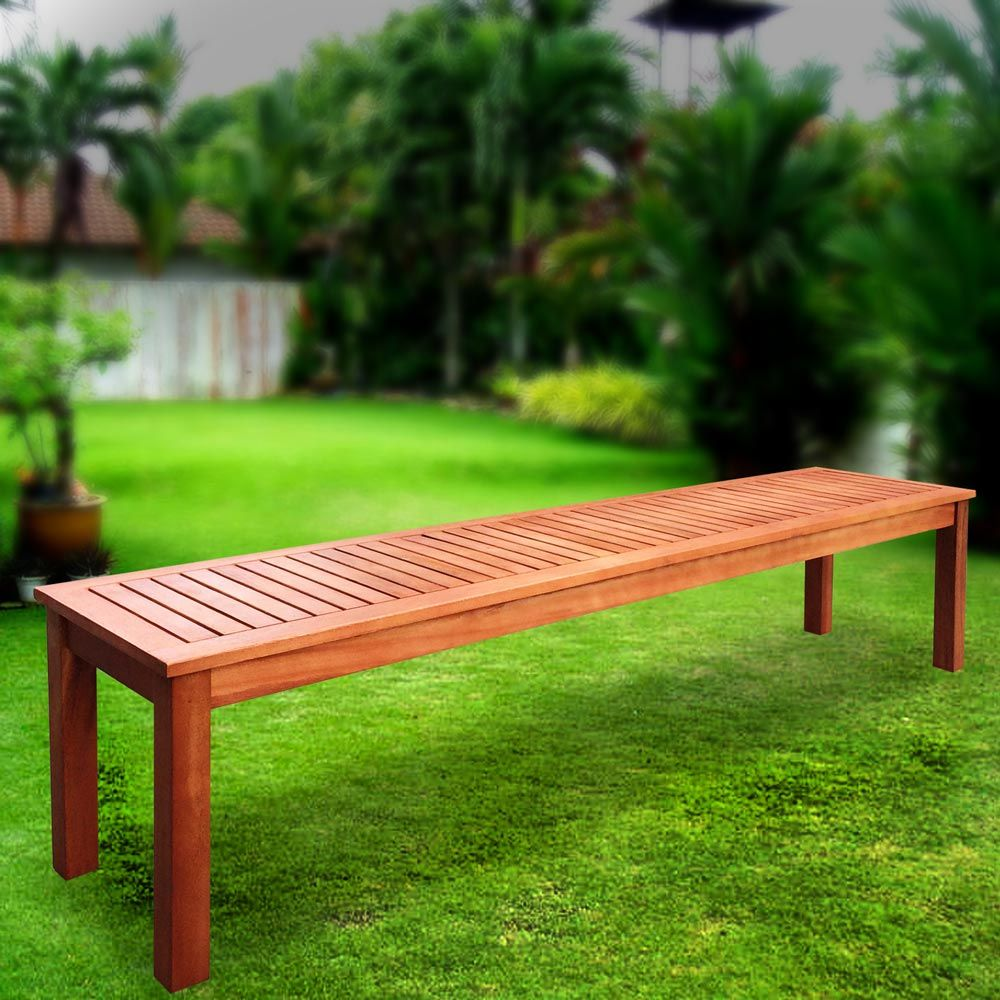 Luxo Fraser Fsc Eucalyptus Hardwood Timber Outdoor Bench Garden