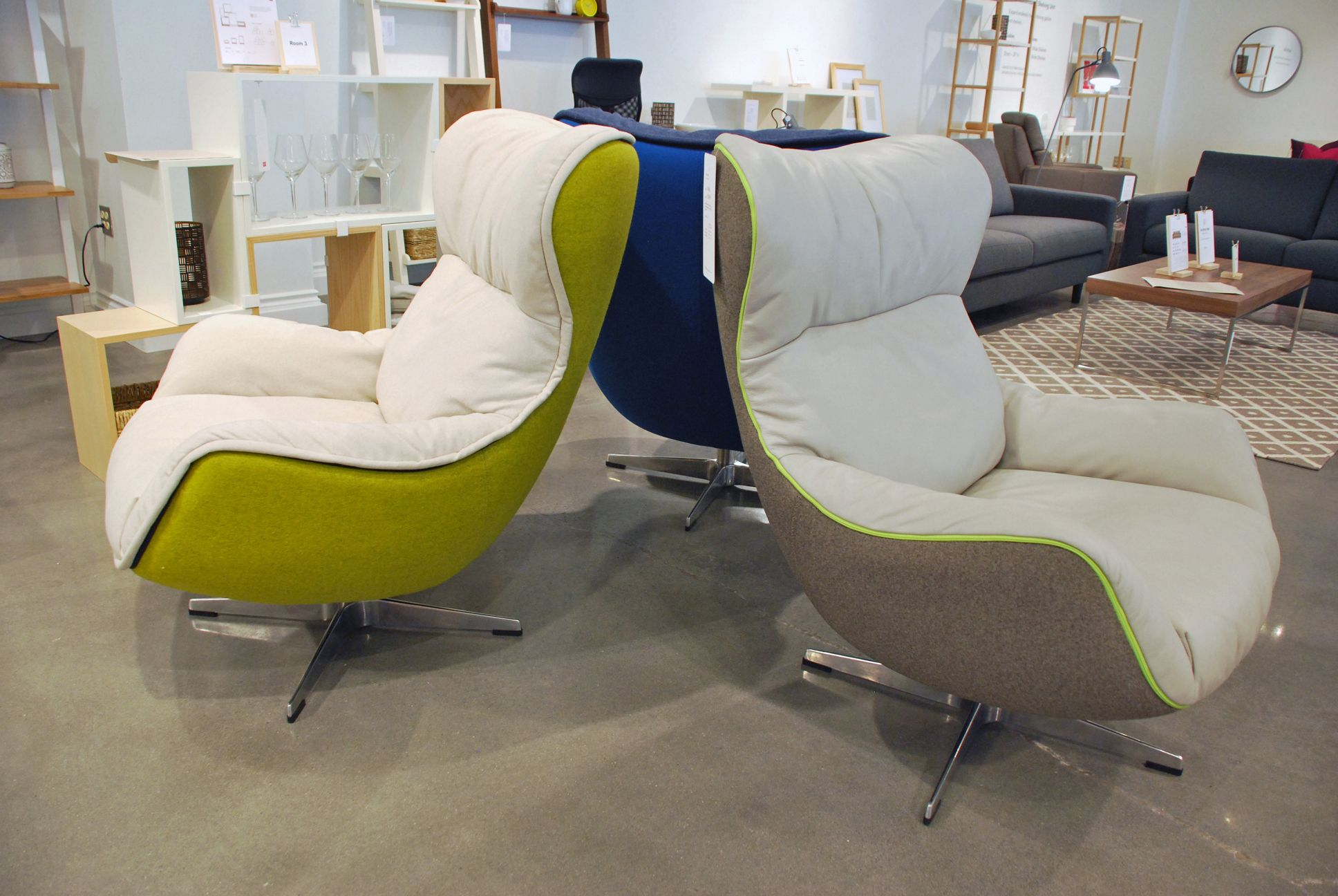 At the EQ3 showroom these Arie chairs come in any EQ3 fabric and now have fun welt options including zippered welt! Come to showroom 400 to sit in these ... & At the EQ3 showroom these Arie chairs come in any EQ3 fabric and ...